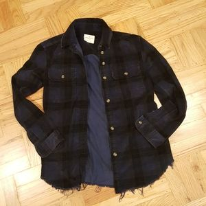 Vintage American Eagle Oversized Blue Plaid Shirt